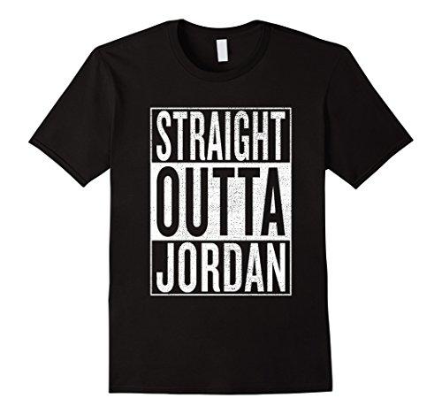 Classic Jordan Tee Graphic Mens (Mens Straight Outta Jordan Great Travel & Gift Idea T-Shirt XL Black)