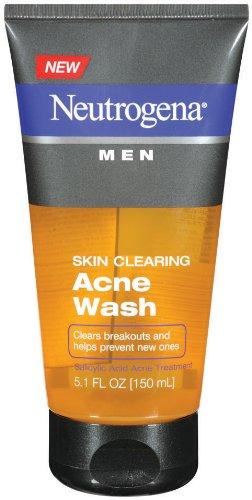 Peau Clearing acné Wash Neutrogena hommes, 5,1 onces (pack de 2)