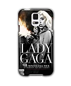 Tomhousomick Custom Design Women's Fashion Cases Sexy Singer Lady Gaga Case for Samsung Galaxy S5 Back Cover #279