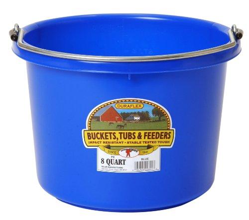 8 Quart Bucket (Miller Manufacturing P-8-BLUE 8-Quart Plastic Buckets, Blue)