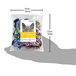 Mylar Crinkle Balls Cat Toys Best Interactive Crinkle Cat Toy Balls Ever Top Rated Independent Pet Kitten Cat Toys for Fat Real Cats Kittens Exercise, Soft/Light/Right Size 12 Pack by Friends Forever