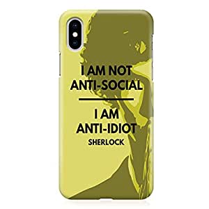 Loud Universe Case for iPhone XS Wrap around Edges Anti Idiot Tv Show Rugged Light weight Printed Edges iPhone XS Cover
