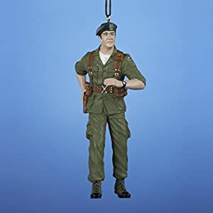 "4.5"" John Wayne the Duke Military Christmas Figure Ornament"