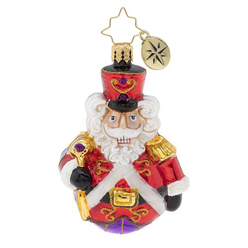 Christopher Radko Hand-Crafted European Glass Christmas Ornaments, Man Or Mouse, Nutcracker?