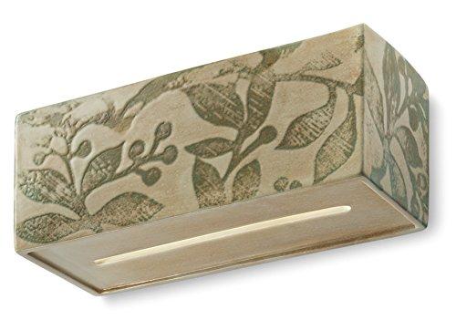 Ferroluce retrò vague vintage applique lighting fixture ceramic