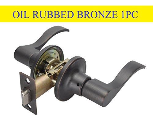 (Mobile Home Lock Lever Handle Passage Door Lockset Bronze,TL001-ORB-PS)
