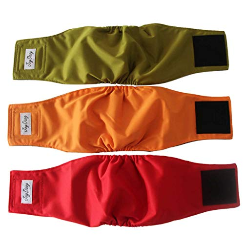 JoyDaog Belly Bands for Male Dogs,(3 Pack) Washable Dog Diapers...