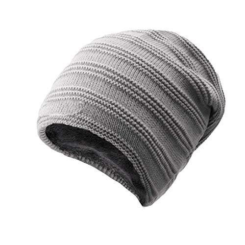 sólido tamaño más Invierno de Cabeza Grueso Hechgobuy Un cálido de Sombrero los de A Terciopelo tamaño Punto de de Color Hombres Sombrero la Sombrero A de Color wgOwq6A