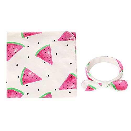 Watermelon Sleeping Bag (BeimYcW Cotton Infant Newborn Baby Wrap Blanket Swaddle Sleeping Bag + Bowknot Headband Cozy Lightweight Supplies)