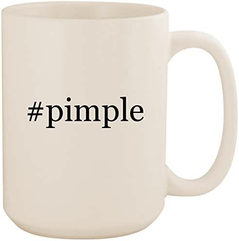 #pimple - White Hashtag 15oz Ceramic Coffee Mug Cup