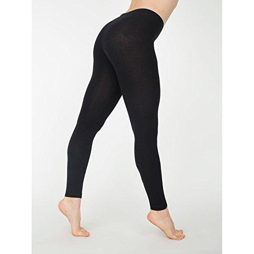 american-apparel-womens-ladies-cotton-spandex-jersey-leggings-xl-black