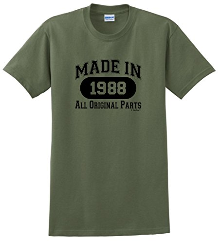Pictures Birthday Cards - 30th Birthday Candles Cards 30th Birthday Gift Made 1988 All Original Parts T-Shirt Small Military Green