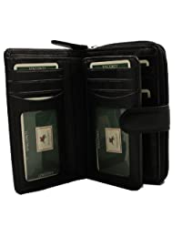 Visconti Heritage-33 Ladies Multi Soft Leather Card Holder Wallet and Purse (Black)