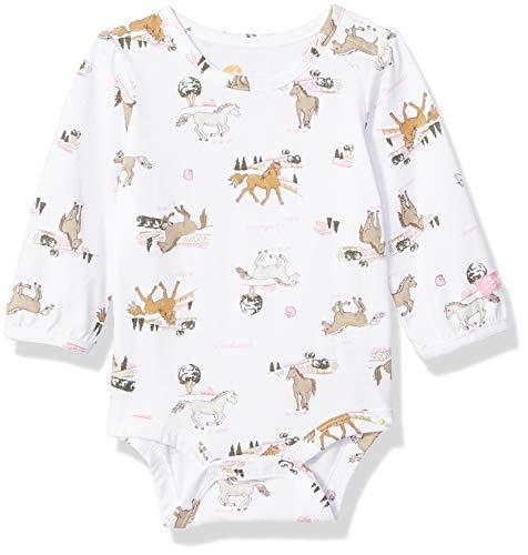 Carhartt Baby Girls Long Sleeve Bodyshirt, White, 3M (Suit Horse)