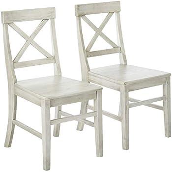 Amazon Com East West Furniture X Back Kitchen Chair Set