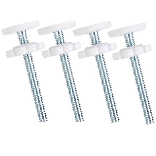 Set of 4 Baby Gate Pressure Mount, Diameter M10 (10mm) Threaded Tension Bolts Screw with Gel Knot Pads Protected Wall, Hardware Kits for Baby, Dog & Pet Safety Gate by V-FYee