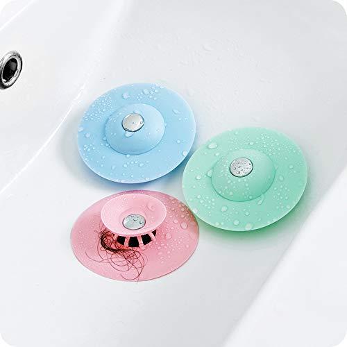 BSGP Confezione da 4 Tappi di Scarico Doccia Filtro per Vasca da Bagno lavandino Colore Casuale Protezione per i Capelli Cattura Capelli