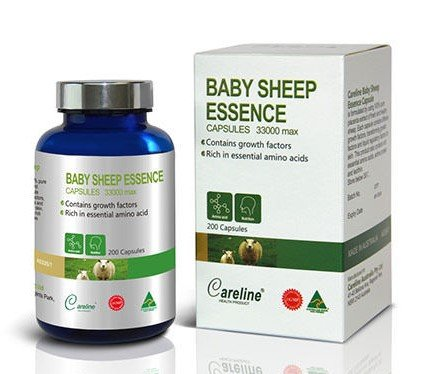Careline Baby Sheep Placenta Essence 33000mg 200 Capsules Made in Australia