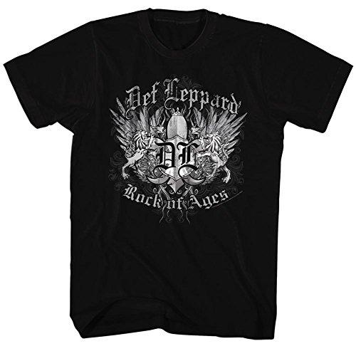 Metals da T Nera Hair Ages shirt 2bhip Leppard Rock Def uomo Heavy 80s w6qzp6