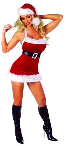 Roma Costume Women's 1 Piece Chic Santa, Red/White, Mediu...