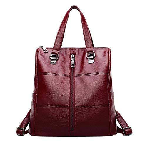 School tracolla Borsa Travel Bag Backpack Vintage Girl Leather rossa a Satchel Ciciyoner Women qyHxtpPOnw