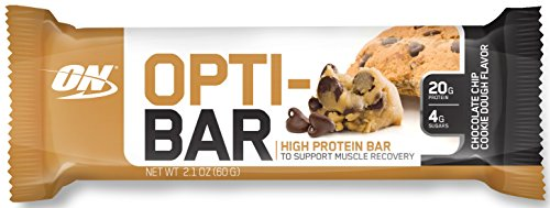 Optimum Nutrition Opti-Bar, Low Sugar Meal Replacement Whey Protein Bar, Flavor: Chocolate Chip Cookie Dough, 12 Count