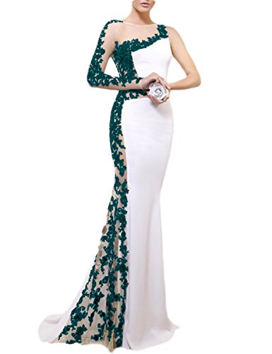 OYISHA Womens Long Sexy Mermaid Wedding Dress Formal Evening Party Gowns EV117 Jade - Dresses Formal Jade
