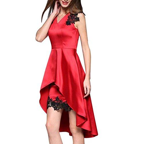 Red Chengxiaoxuan Di Vestito Alta Fascia qPBz48