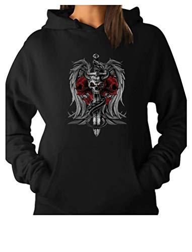 Tstars – Bikers Tattoo Affliction Skull Sword Dragon Apparel Women Hoodie