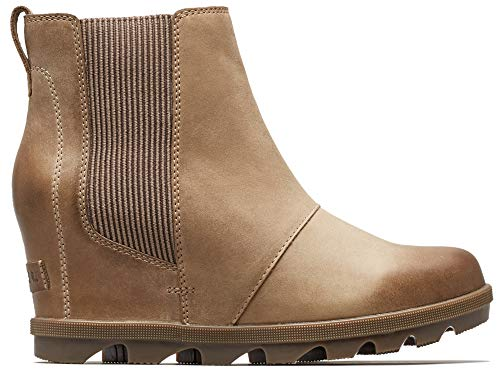 Sorel - Women's Joan of Arctic Wedge II Chelsea Boots, Ash Brown, 6 M US
