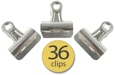 Metal Bulldog Bull Nose Clips - Binder Clips - 1-1/8