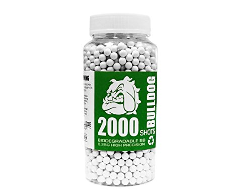 2000 Bbs (BULLDOG 2000 Airsoft Pellets [0.25g] Biodegradable [6mm White] Triple Polished [Pro Team Grade])