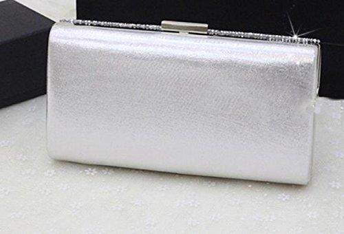 De Silver pour Nuptiale Dames Strass Soirée Tout De Mariage Sac GZHGF Black Fourre Fashion FRwqx11