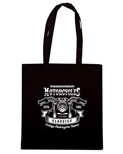 Borsa TB0485 Shopper VINTAGE Shirt Nera Speed MONOCHROME PRINT 5nOFPwqgx