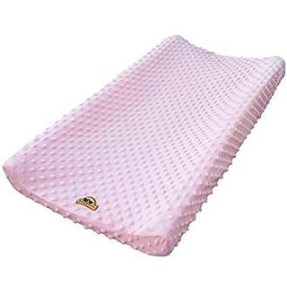 BlueSnail Ultra Soft Minky Dot Changing Pad Cover (Pink,one Size)