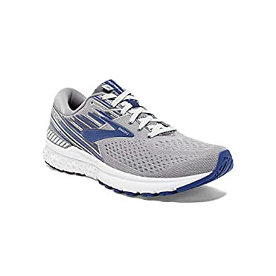 Brooks Men's Adrenaline GTS 19 Grey/Blue/Ebony 7 D US