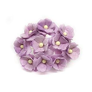 1.5cm Lilac Mulberry Paper Flowers, Lilac Paper Hydrangea, Wedding Flowers, Wedding Decor, Wedding Table Flowers, Lilac Wedding, Artificial Flowers, 50 Pieces 46