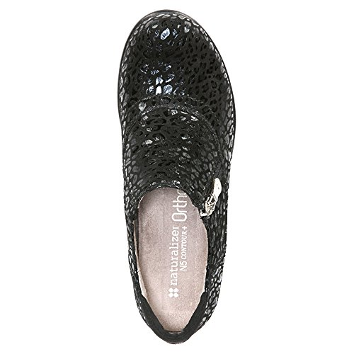 Leather Back Women's Cheetah Black Clog Florence Naturalizer Closed O08xvxS
