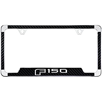 Amazon.com: Ford F 150 License Plate Frame (2 Hole / Brass, Chrome ...