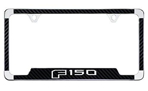Ford F 150 License Plate Frame (2 Hole/Zinc, Chrome/Black) ()