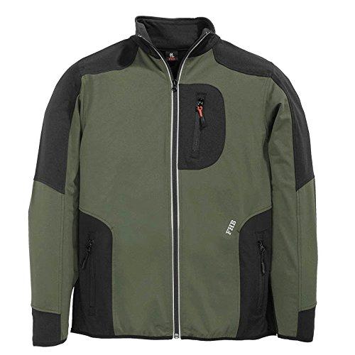 FHB Jersey-Fleece, Ralf, Größe 2XL, oliv / schwarz, 78461-1520-2XL