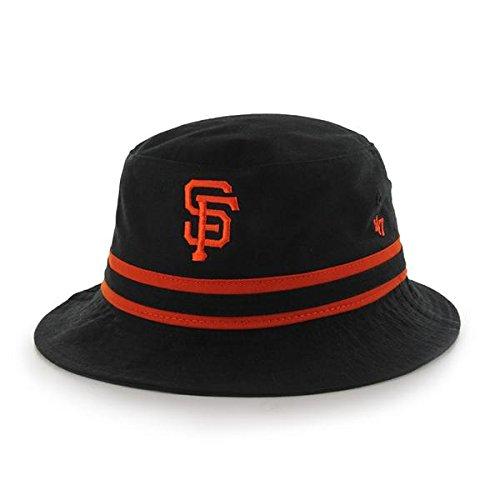 47 Brand Black Striped Bucket Hat - MLB Gilligan Fishing Cap (San Francisco Giants) (Accessories Mlb Mens)
