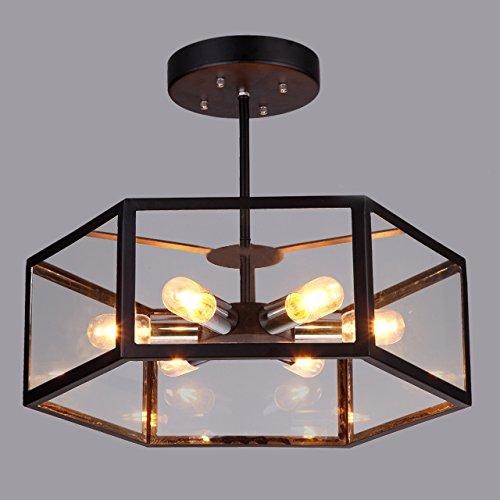 Industrial Vintage Barn Metal Hanging Ceiling Light - LITFAD 19