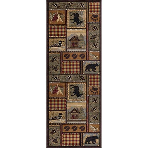 2'7 x 7'3 Brown Black Bear Runner