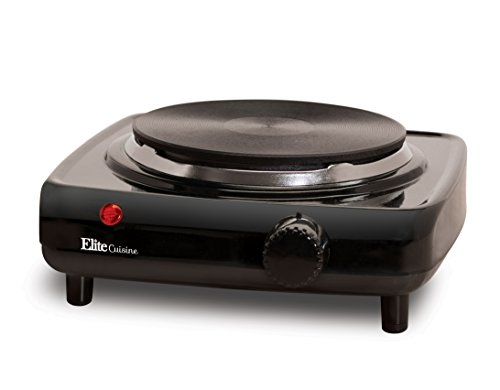 Elite Cuisine ESB-301BF Maxi-Matic 1000 Watt Single Buffet Burner Electric Hot Plate,