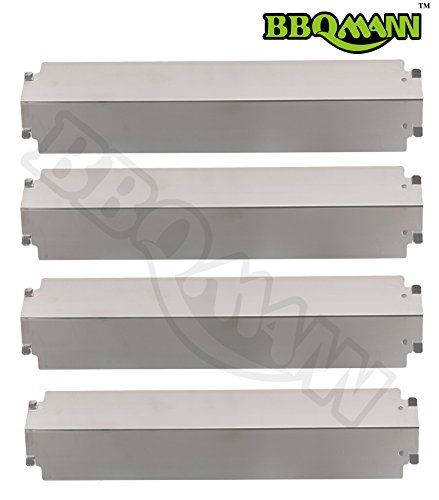 BBQMANN JD321 (4-pack) Stainless Steel Heat Plate/Shield Replacement for Select Gas Grill Models, Charbroil and Others (16