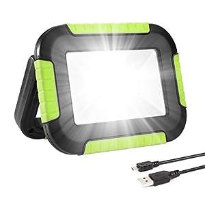 41oBHO%2BDZPL. SS300 LE LED Akku Strahler, Campinglampe Tragbar, 10W 1000 Lumen Superhell Wiederaufladbare Suchscheinwerfer mit 4400mAh…