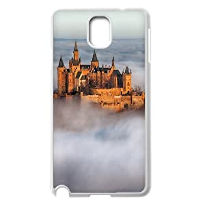{Funny Series} Samsung Galaxy Note 3 Case Hohenzollern Castle Fog Germany, Design Protective Case Okaycosama - White