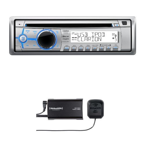 Clarion M303 Marine CD-USB-MP3 Receiver with SiriusXM SXV300v1 Connect Vehicle Tuner Bundle by Clarion Mobile Electronics