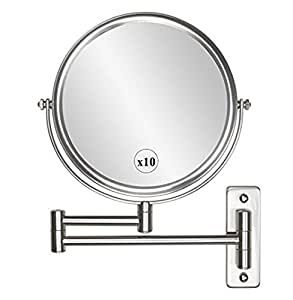 extendable magnifying bathroom mirror wall mounted makeup mirror 10x magnification 18258